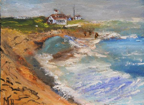 Painting - Coast Gurd Beach by Michael Helfen