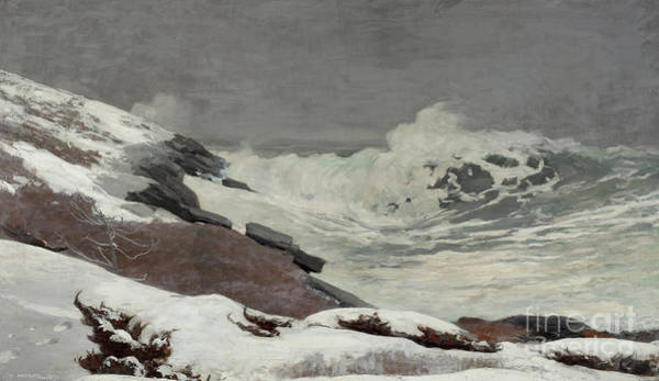Wall Art - Painting - Coast In Winter, 1892 by Winslow Homer