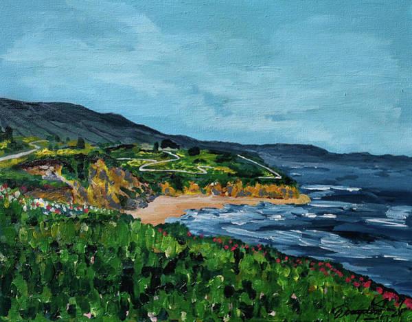Wall Art - Painting - Coast Of California by Brayden Noh