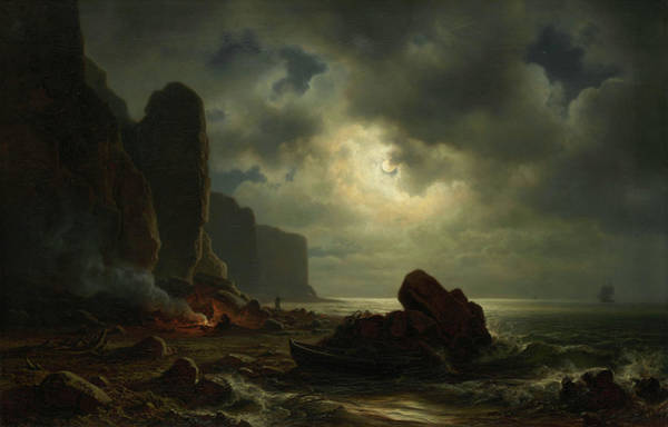 Archipelago Painting - Coast Of Heligoland by Christian Morgenstern