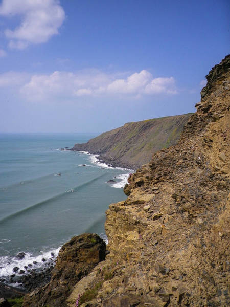 Wall Art - Photograph - Coast View From Steeple Point Duckpool North Cornwall by Richard Brookes
