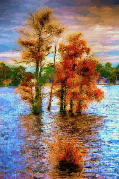 Wall Art - Painting - Coastal Autumn In North Carolina Ap by Dan Carmichael