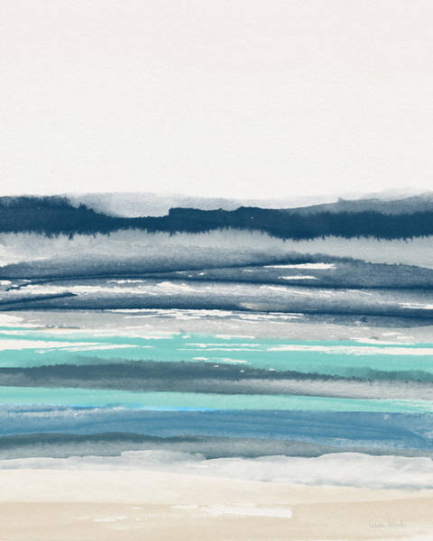 Wall Art - Painting - Coastal Calm Water 2- Art By Linda Woods by Linda Woods
