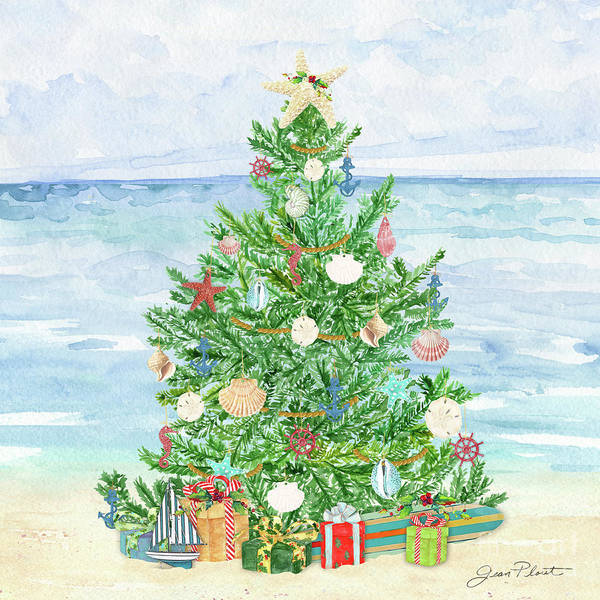 Wall Art - Painting - Coastal Christmas B by Jean Plout