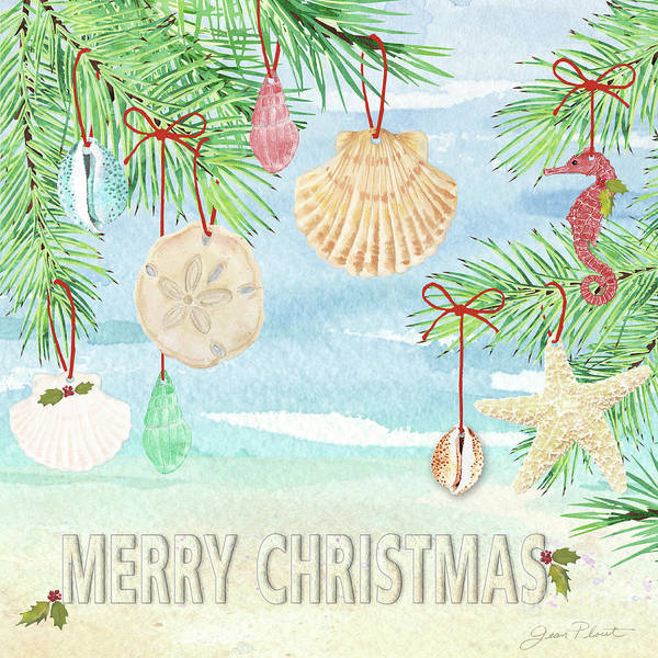 Wall Art - Painting - Coastal Christmas E by Jean Plout