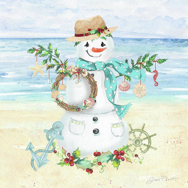 Wall Art - Painting - Coastal Christmas F by Jean Plout