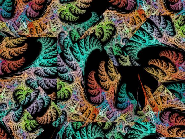 Wall Art - Digital Art - Coastal Coral Bridges Collage Fractal by Betsy Knapp
