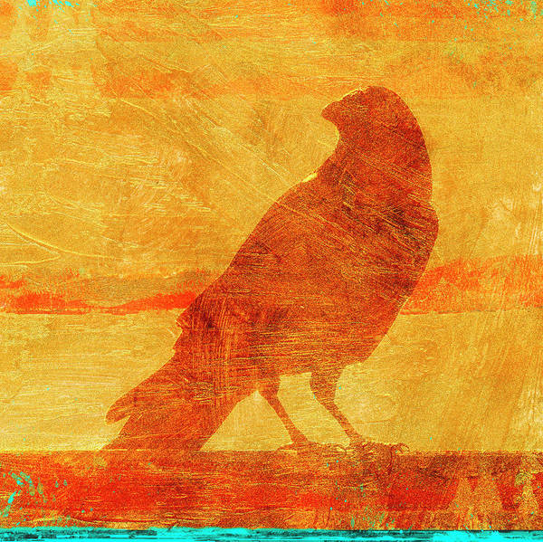 Wall Art - Mixed Media - Coastal Crow One by Carol Leigh