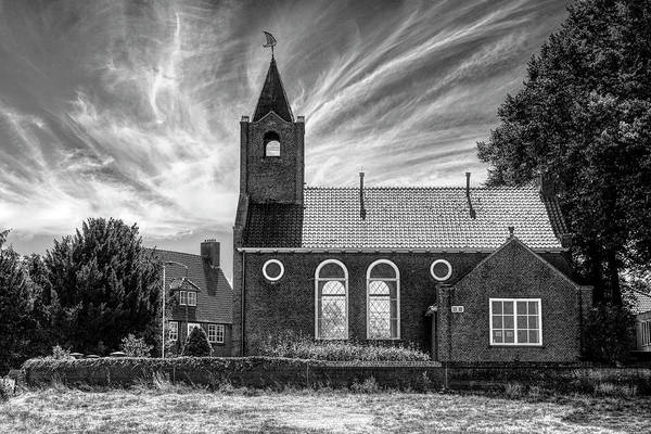 Photograph - Coastal Dutch Church In Black And White by Debra and Dave Vanderlaan