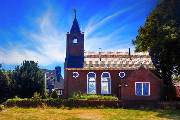 Photograph - Coastal Dutch Church Painting by Debra and Dave Vanderlaan