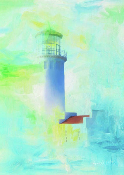 Wall Art - Mixed Media - Coastal Hope - Light The Way by Amanda Lakey