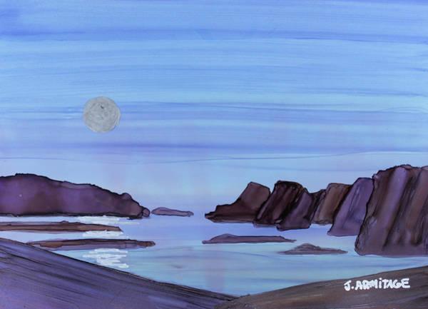 Wall Art - Painting - Coastal Moon by Jenny Armitage