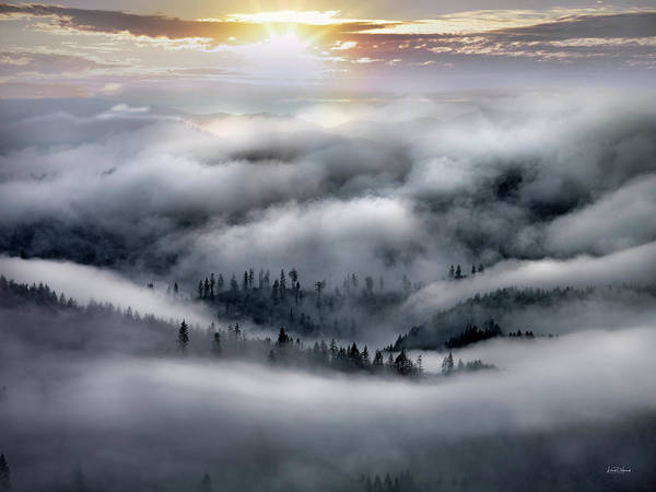 Photograph - Coastal Range Ocean Fog by Leland D Howard
