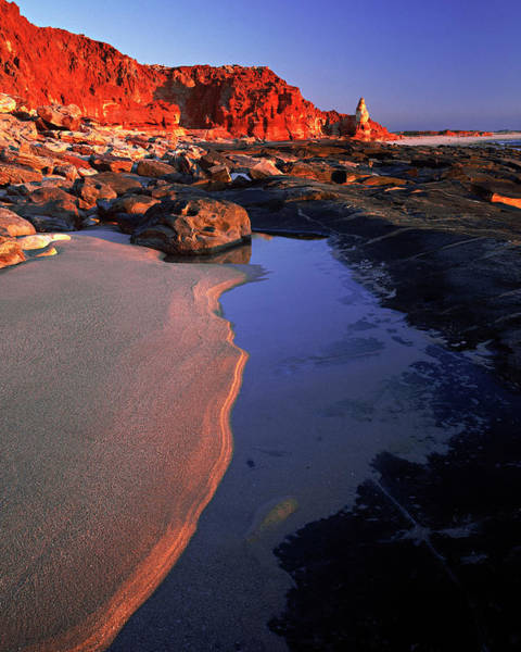Broome Photograph - Coastal Scene With Red Cliffs, Cape by Ted Mead