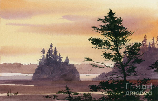 Wall Art - Painting - Coastal Sunset by James Williamson