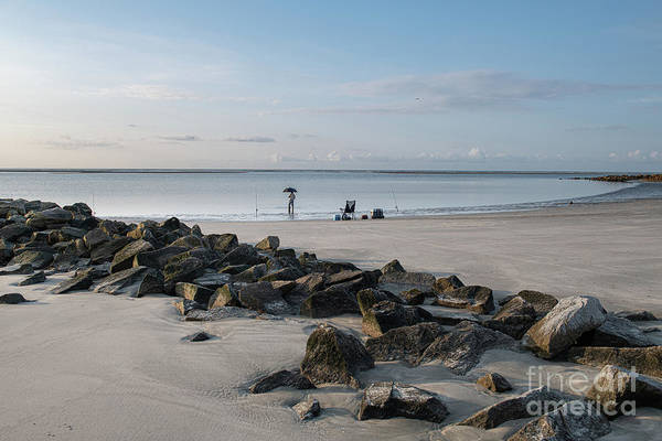 Photograph - Coastal Surf Fishing - Breach Inlet by Dale Powell