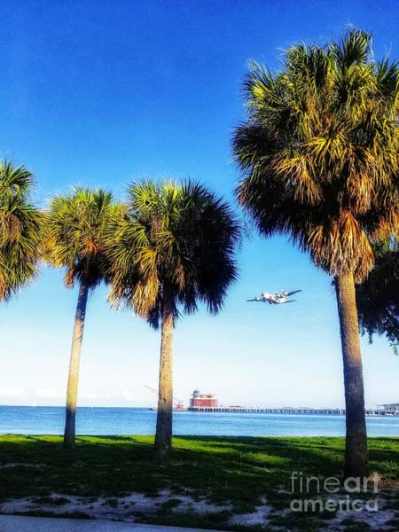 Photograph - Coast Guard Plane In Flight by Rachel Hannah