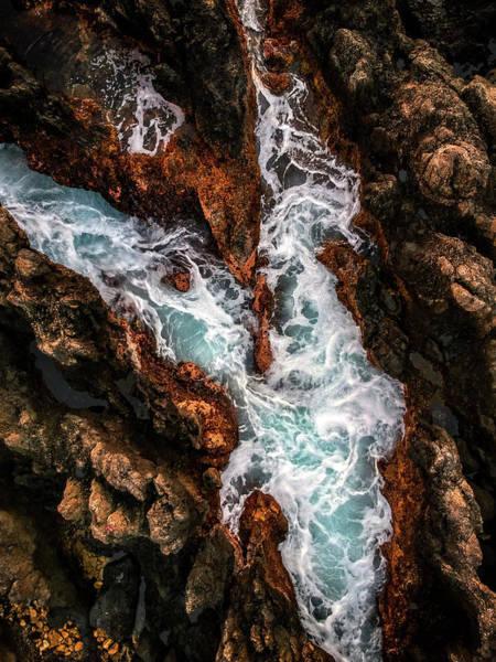 Photograph - Coastline Design by Christopher Johnson