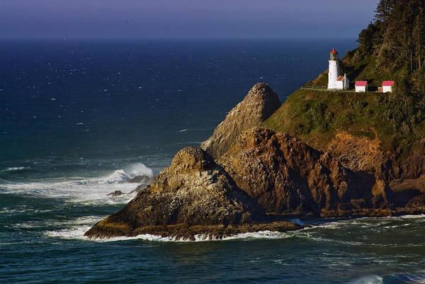 Heceta Head Lighthouse Photograph - Coastline Near Heceta Head Lighthouse by Witold Skrypczak