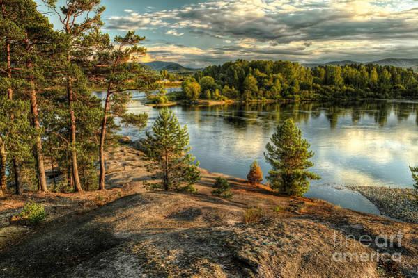 Wall Art - Photograph - Coastline Of Biya River In Turochak by Maltsev Semion
