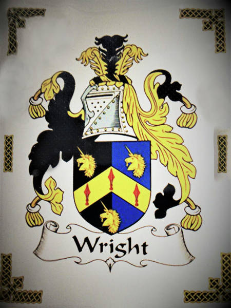 Photograph - Coat Of Arms - Wright by Angelcia Wright