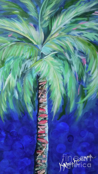 Painting - Cobalt Palencia Palm I by Kristen Abrahamson