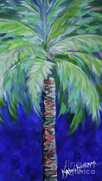 Painting - Cobalt Palencia Palm II by Kristen Abrahamson