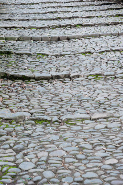 Photograph - Cobbled Steps by Helen Northcott