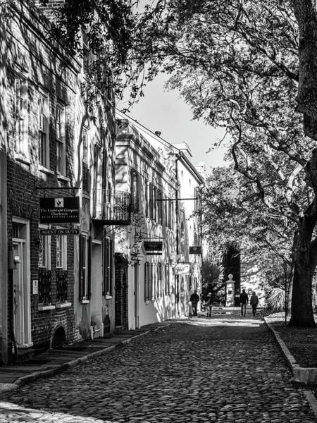 Photograph - Cobbled Street Black And White by Framing Places