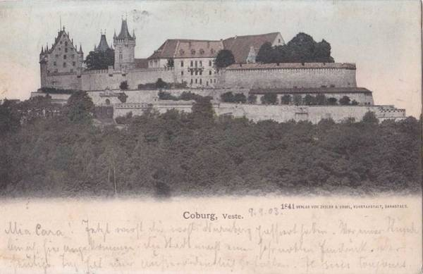 Wall Art - Painting - Coburg Veste Fortress Castle Building Muenchen Germany 1900s by Celestial Images