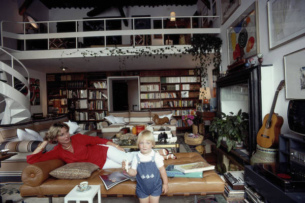 Adult Coloring Book Photograph - Coca Cameli by Slim Aarons