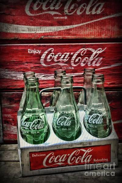 Wall Art - Photograph - Coca-cola 1950s Metal Carrier Horizontal  by Paul Ward