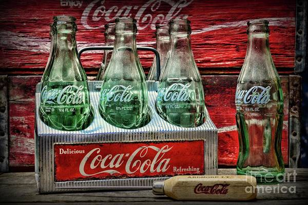 Wall Art - Photograph -  Coca-cola 1950s Metal Carrier by Paul Ward