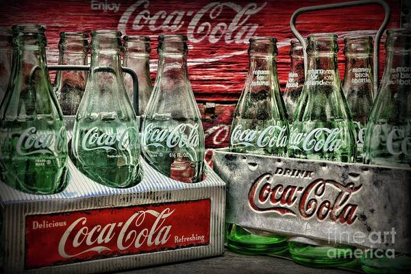Wall Art - Photograph - Coca-cola 1950s Metal Carrier Six Packs by Paul Ward