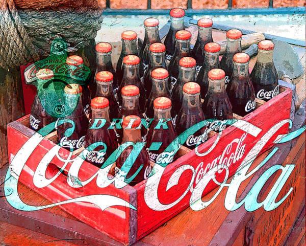 Wall Art - Digital Art - Coca Cola And Work Mash Up by David Lee Thompson