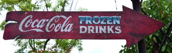 Wall Art - Photograph - Coca Cola Arrow Style Sign by David Lee Thompson