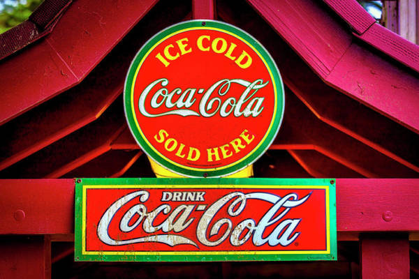 Wall Art - Photograph - Coca-cola Sign At The Zoo by Garry Gay