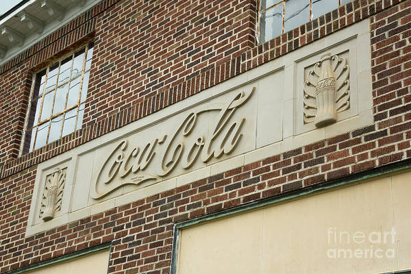 Wall Art - Photograph - Coca Cola Vintage Building Signage Vidalia Georgia Architectural Art by Reid Callaway