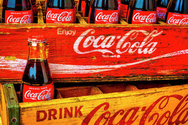 Coca Cola Photograph - Coca Cola Vintage Wooden Crates by Garry Gay