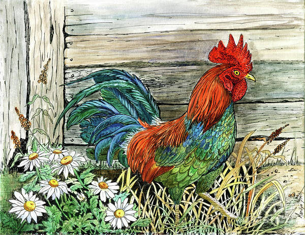 Mixed Media - Cock-a-doodle-do by Marilyn Smith