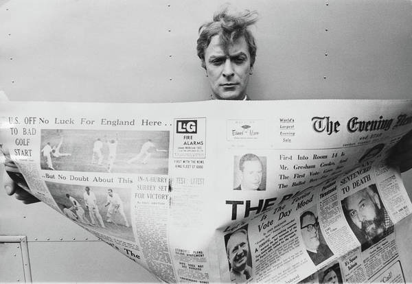 Newspaper Photograph - Cockney Caine by Stephan C Archetti