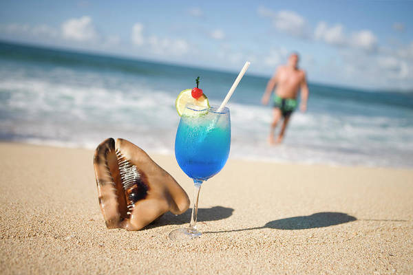 Toughness Photograph - Cocktail And Shell On Beach Near Maca by Holger Leue