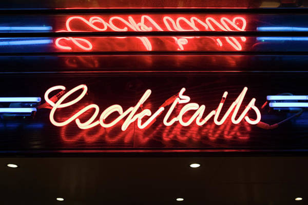 Photograph - Cocktail Bar Sign by Image Source