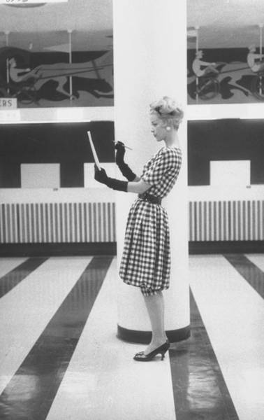 Cocktail Photograph - Cocktail Dress Called Race Track Fashion by Nina Leen