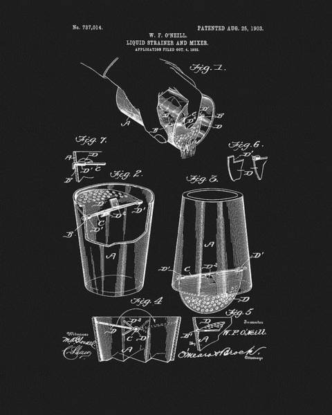 Wall Art - Drawing - Cocktail Mixer Patent by Dan Sproul