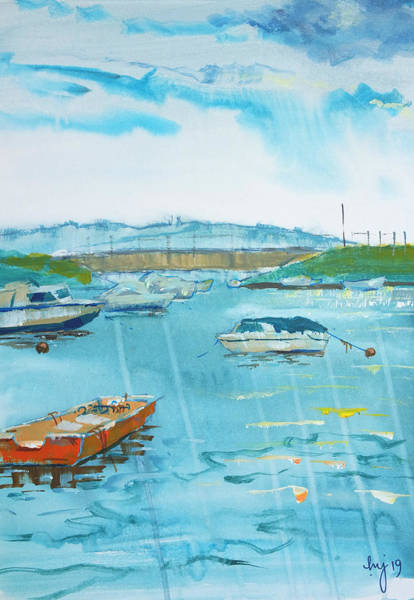 Painting - Cockwood Harbour Near Starcross In Devon Painting by Mike Jory