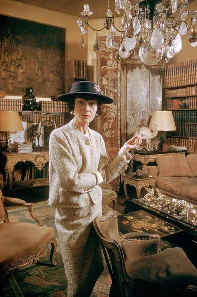 Elegance Photograph - Coco Chanel In Paris, France In 1959 - by Kammerman