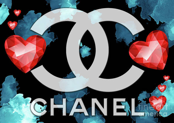 Digital Art - Coco Chanel Logo  -  121 by Prar Kulasekara