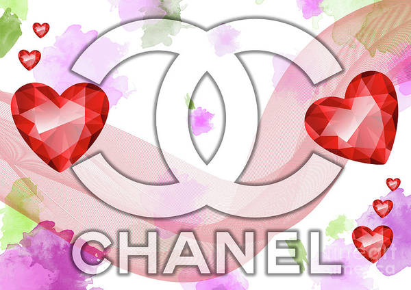 Digital Art - Coco Chanel Logo  -  123 by Prar Kulasekara