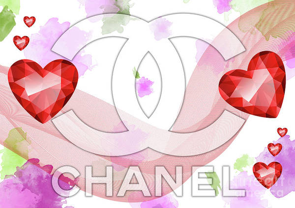 Digital Art - Coco Chanel Logo  -  124 by Prar Kulasekara